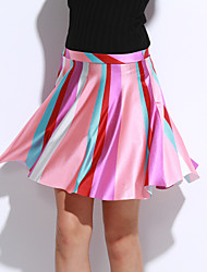 Women's Striped Pink Skirts,Sexy / Active Mini