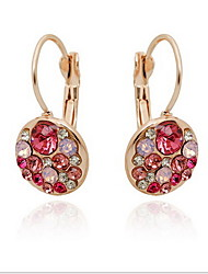Imitation Diamond Drop Earrings Jewelry Women Party Daily Casual Glass 1 pair As Per Picture