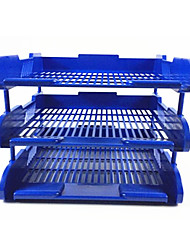 Three Layered File Rack - Blue