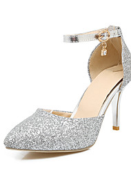 Women's Heels Spring Summer Fall Other Glitter Wedding Party & Evening Casual Stiletto Heel Sequin Buckle Pink Silver Gold