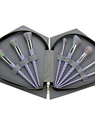 8pcs Sistemas de cepillo Cepillo para Colorete Pincel para Sombra de Ojos Cepillo Corrector Cepillo para Base Contour Brush Pelo Sintético