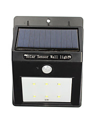 6 LED Wireless Security Motion Sensor Solar Night Lights - 12 LEDs Bright and Waterproof for Outdoor Garden Wall