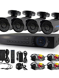 YanSe® 4CH 720P 1200TVL CCTV Camera DVR Kit IR Waterproof Security System 1.0MP 3.6mm AHD-M