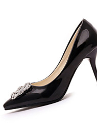 Women's Heels Spring Summer Comfort PU Office & Career Dress Casual Stiletto Heel Sparkling Glitter Others Black Pink Red Ivory White