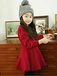 Girl's Casual/Daily Solid Dress Winter Spring Fall Long Sleeve