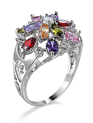 Ring AAA Cubic Zirconia Gemstone Alloy Assorted Color Jewelry Casual 1pc