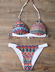 Femme Bohème Bikinis Aux s Fleur Licou Polyester