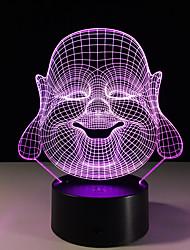 1pc maitreya estéreo colorido visão levou lâmpada de luz da lâmpada 3d colorido gradiente de acrílico visão lâmpada noite