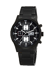 Men's Sport Watch Fashion Watch Quartz Calendar Water Resistant / Water Proof Stainless Steel Band Black