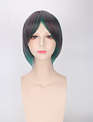 Green Mixed Color Cosplay Fashion Daily Wearing Hair Heat Resistant Party Wig Short Synthetic Wigs for Women or Men