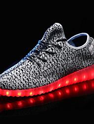 Черный Красный Белый Оливковый-Мужской-Для прогулок-Полиуретан-На плоской подошве-Удобная обувь-Кеды