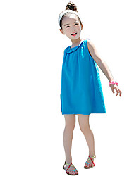 Girl's Casual/Daily Beach Solid Dress,Rayon Summer Spring Sleeveless