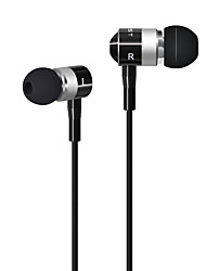 HUAST HST-25 Stereo HeadPhone In Ear Earphone Metal Handsfree Headset with Mic 3.5mm Earbuds For All Phone MP3 Player