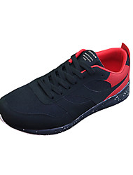 Men's Athletic Shoes Fall Other Other Animal Skin Outdoor Low Heel Lace-up Black/Blue Black/Red Black/White Walking