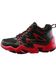 Feminino-Tênis-Conforto-Rasteiro-Laranja Preto e Vermelho Preto e Branco-Tule-Casual