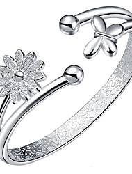 Women's Bangles Fashion Sterling Silver Flower Sunflower Jewelry For Birthday Gift
