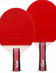 3 Stars Table Tennis Rackets Ping Pang Rubber Short Handle Raw Rubber Indoor Performance Practise Leisure Sports