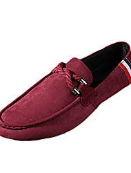 Для мужчин обувь Ткань Весна Осень Удобная обувь сутулятся сапоги Мокасины и Свитер Для прогулок Шнуровка Назначение Повседневные Черный
