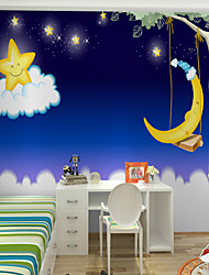 JAMMORY Art DecoWallpaper For Home Wall Covering Canvas Adhesive required Mural Cartoon Night Sky XL XXL XXXL