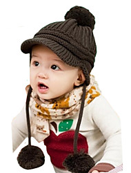 Boy's Fashion Winter Going out/Casual/Daily Knitting Keep Warm Solid Color Headgear Baby Peaked Cap Children's Hat