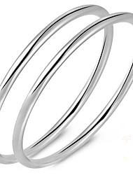 Bracelet Bangles S999 Sterling Silver Others Natural Birthday Gift Jewelry Gift Silver1pc