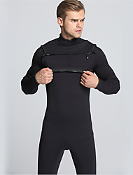 Men's 3mm Wetsuits Drysuits Full Wetsuit Waterproof Thermal / Warm Front Zipper Wearable YKK Zipper Thick Full Body Rubber Diving Suit