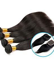 Menschenhaar spinnt Brasilianisches Haar Gerade 6 Monate 5 Stück Haar webt