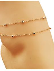 женская розового золота ножной ювелирные изделия 1шт
