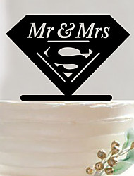 Acrylic big diamond ring cake topper custom wedding cake cake decoration