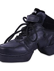 Для женщин-Кожа-Не персонализируемая(Черный) -Танцевальные кроссовки