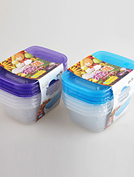 4 pcs PP Plastic Kitchen Plastic Box Container Set