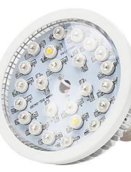 12w e27 / e14 / gu10 levou crescer luzes 12 LED de alta potência (8red 2Blue 1UV 1White) 290-330lm ac 85-265 v 1 pcs