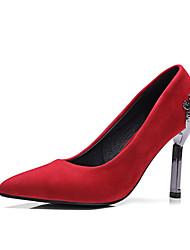 High Heels-Lässig-Vlies-Stöckelabsatz-Andere-Schwarz Grün Rot