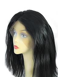 de calidad superior brasileña sin procesar del pelo virginal 8-24 peluca llena del cordón del cordón suizo duraderos ajustables correas