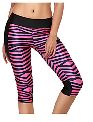 Femme Course / Running Leggings Bas Respirable Eté Yoga Course/Running Coton Vêtements de Plein Air Athleisure Rouge Classique