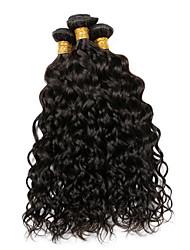 Vinsteen Water Wave 4Pcs(18 18 20 20 inch)Peruvian Texture Hair Weaves Virgin Indian Human Hair Bundles Cheap Natural Black Brazilian Hair Extensions