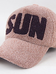 The New Embroidery English Letter Plush Baseball Cap Ms. Fashion Warm Caps