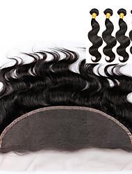 5 Stück Große Wellen Menschliches Haar Webarten Peruanisches Haar 100g or 50-75g 8-30inch Haarverlängerungen