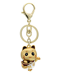Lovely metal keychain China Fortune Cat key