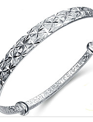 Women's Bangles Natural Sterling Silver Flower Jewelry For Birthday Gift