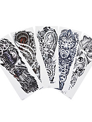 5pcs Machine Arm Decal Temporary Large Full Flower Arm Tattoo Sticker for Women Men Body Art Fashion