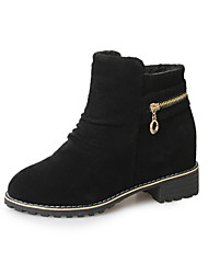 Women's Boots Winter Other Comfort PU Casual Low Heel Sparkling Glitter Black Army Green Other