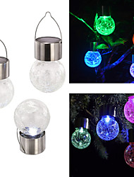 Solar Lights Solar Crack Glass Ball Lights Home Decoration Street Lamps Colorful Night Lights 4*Pieces