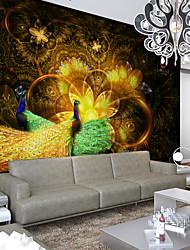 JAMMORY Golden Phoenix 3D Fashion Wallpaper Personality Wallpaper Mural  Wall Covering Canvas Material Golden Church XL XXL XXXL