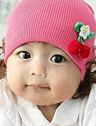 Girl's Knitting Cute Winter Going out/Casual/Daily Keep Warm Solid Color Cherry Headgear Hat Children Cap