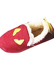 Women's Loafers & Slip-Ons Winter Comfort Fleece Casual Flat Heel Others Red Dark Grey Other