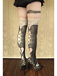 Meias e Meias-Calças Gótica Doce Lolita Clássica e Tradicional Punk Lolita Vitoriano Rococo Princesa Transparente Inspiração Vintage Sexy