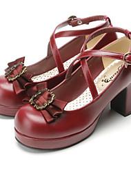 Schuhe Gothik Niedlich Klassische/Traditionelle Lolita Punk Wa Matrose Vintage Inspirationen Elegant Viktorianisch Stöckelschuh Schleife
