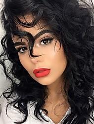 curta rendas ondulação natural frente peruca cor preta cabelo virgem natural do ser humano com o cabelo do bebê