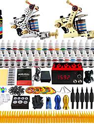 tattoo® Solong tatouage complet kit 2 machines pro 40 encres alimentation aiguilles pédale poignées conseils tk228
